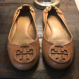 Tory Burch Camel Mini travel Ballet Flats 8.5